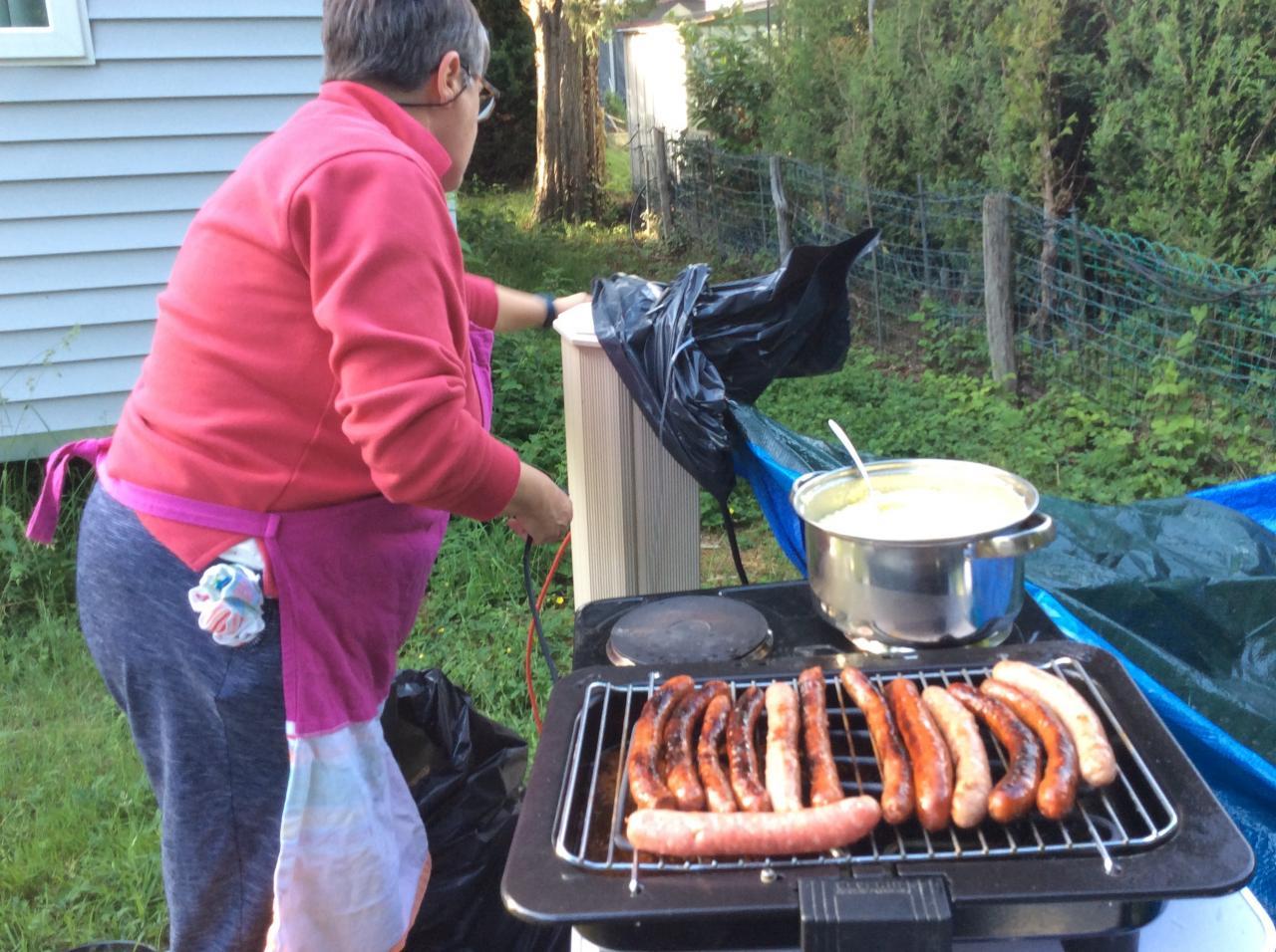 Pascale au barbecue